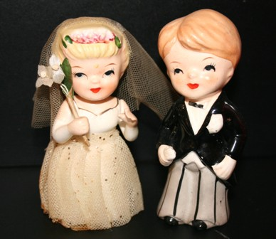 vintage wedding cake topper e