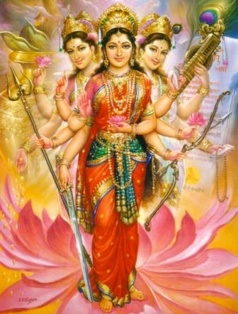 tridevi goddess divine mother
